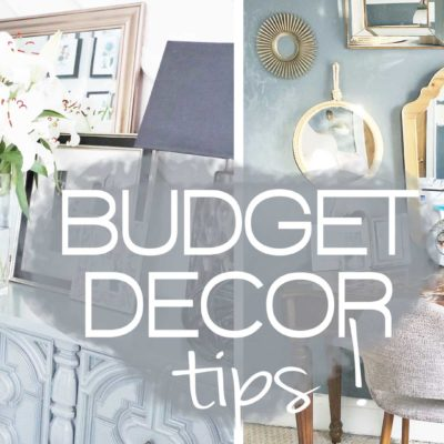 DECORATE YOUR HOME ON A BUDGET